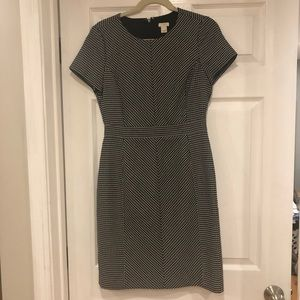 J Crew navy patterned dress. Size 4